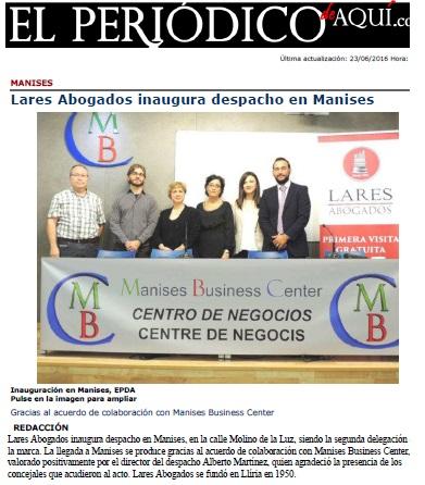 El Periódico de Aquí - Lares Abogados inaugura despacho en Manises