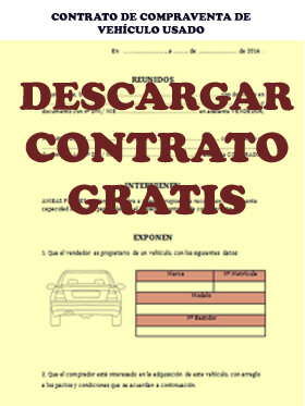 Contrato compraventa coche, contrato compraventa vehículos